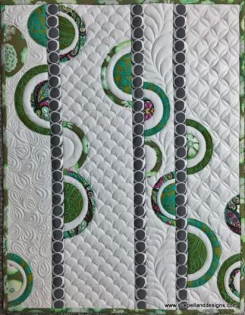 Inner Circle Class Sample for Free Motion Quilting and Free Motion Applique