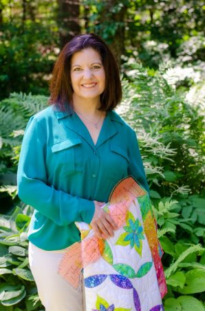 Sue in the garden with Gradations