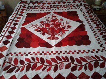 Belle En Rouge quilt by Pat Beshara