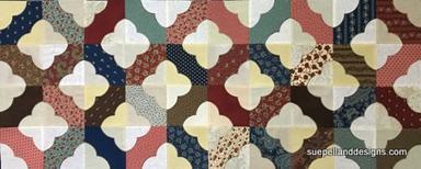 Twin Tiles Table Runner, dark diagonals